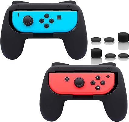FastSnail - Empuñaduras para Nintendo Switch Joy-con Negro Negro ...