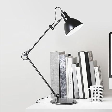 Lámpara Stent Negro TTTD Minimalista de Mesa Moderno Largo qzSVMUp