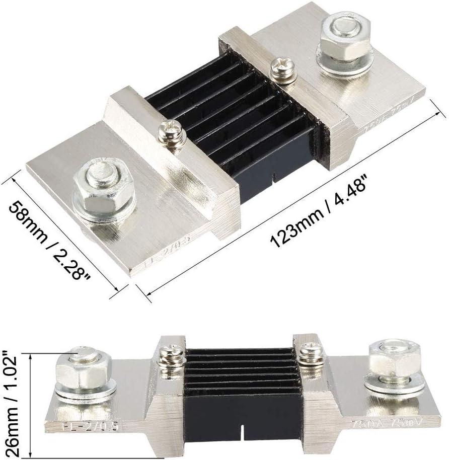 uxcell Shunt Resistor 10A 75mV for DC Current Ammeter Analog Panel Meter External FL-2 Shunt Divider