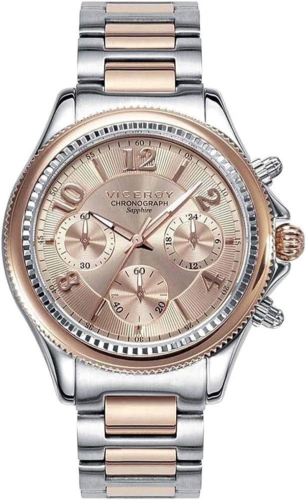 Viceroy 47892-95 Reloj de chica, bicolor con cronógrafo y cristal de zafíro