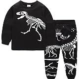 Juegos de pijamas para niños de 12 meses a 14 años 100% algodón