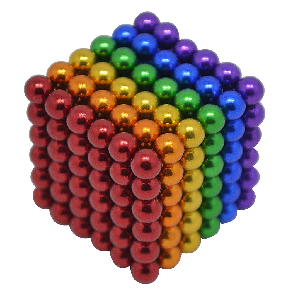 HAJUGADOR 5MM 216 Pieces Magnetic Ball Set Sculpture Building Blocks Toys Perfect for Crafts, Intelligence Learning Magnets Cube Provides Relief for Anxiety, Autism, ADHD (6 Color, 5MM)