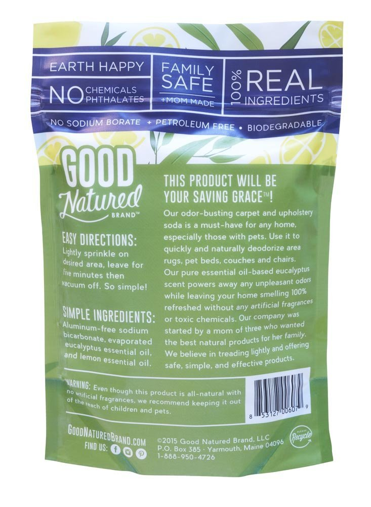 Good Natured Brand The Best All-Natural Pet-Friendly Eco-friendly Saving Grace Carpet & Upholstery Deodorizer, 32 oz. by Good Natured Brand (Image #2)