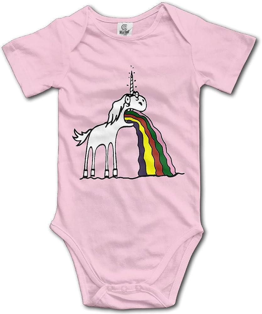 Rainbow Unicorn Pink Stars Pink Hearts Long Sleeve Natural Organic Baby Onesies Romper Novelty for Boys Girls