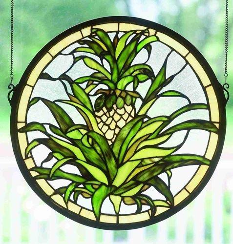 16 Inch X 16 Inch Welcome Pineapple Window ()