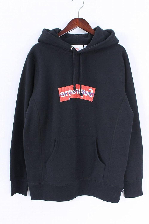 (シュプリーム) SUPREME ×コムデギャルソンシャツ/COMME des GARCONS SHIRT 【17SS】【Box Logo Hooded Sweatshirt】ペーパーアートボックスロゴプルオーバーパーカー(M/ブラック) 中古 B07FQLNQYY  -