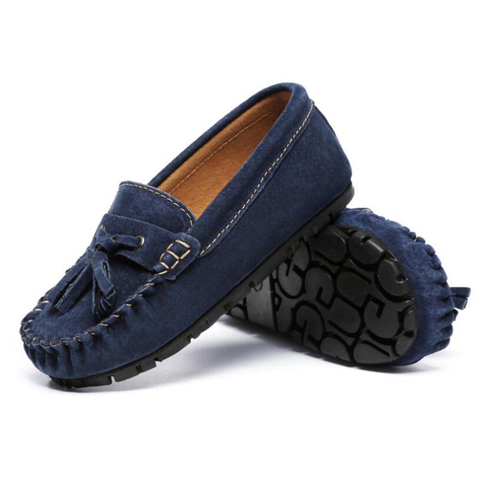 Jungen Schuhe Wildleder Frühling Herbst Kind Mädchen Slip-Ons & Loafers Mokassin Stiefelschuhe für Casual (Farbe : C, Größe : 24)