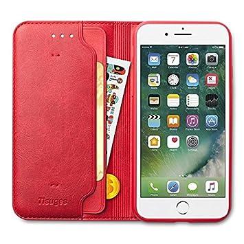 ed0745c5fd iPhone8 Plus ケース iPhone7 Plus ケース 手帳型 Tisuges 高級PUレザー カード収納 スタンド機能