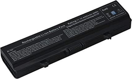 Li-ion 6-Cell 5200mAh//58WH Laptop Battery for Dell Inspiron 1526 1525 1545 1546 1750 1440 Pp29l Pp41l Fits Gw240 Rn873 M911g M911 X284g K450n Replacement