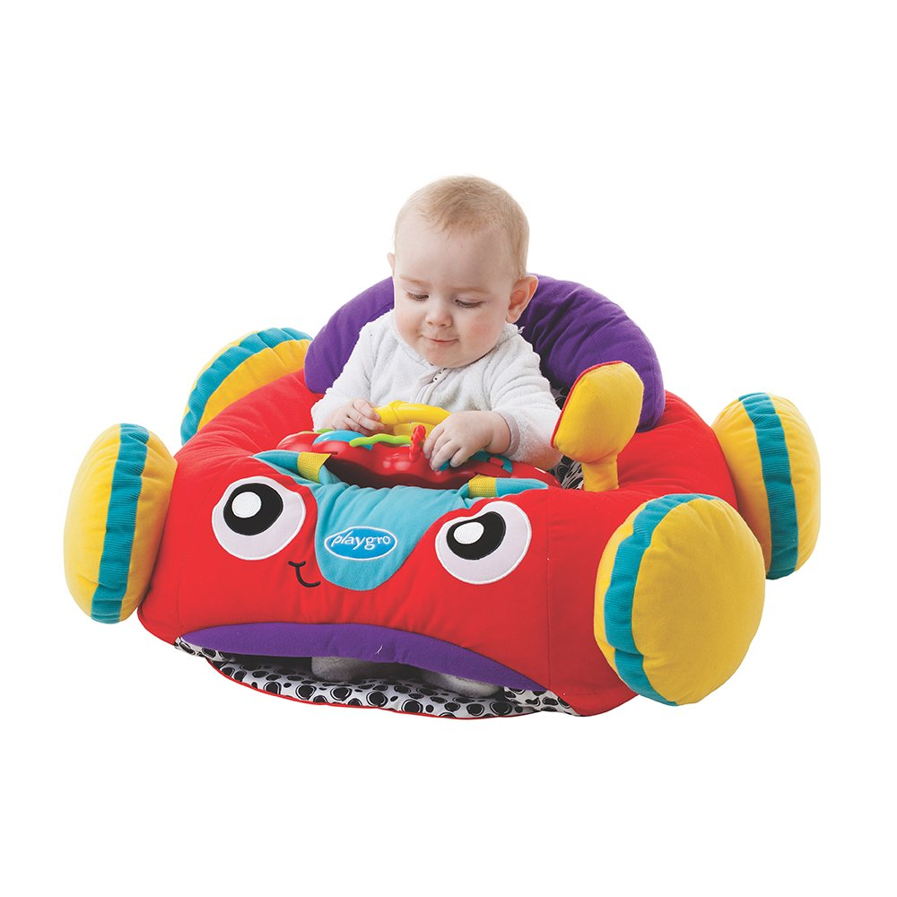 Playgro 0186363 Music and Lights Comfy Car (Pink) STEM Toy for Baby Infant Toddler