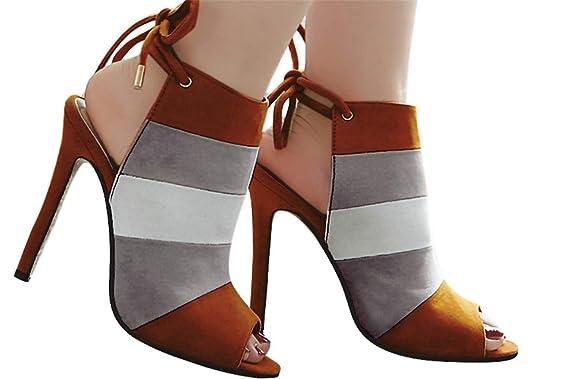 cee17d4118c1a Amazon.com: Fainosmny Womens High Heels Summer Sexy Peep Toe Boots ...