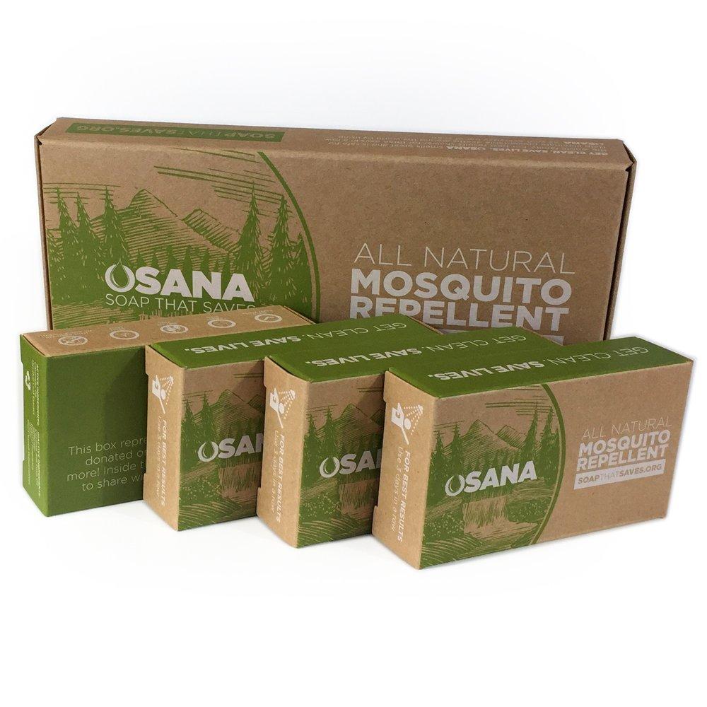 Osana All Natural Mosquito Repellent Soap 3 Bars 1 Beauty Barn Kid Citronella Body Oil Bonus Travel Bar Menthal Health Personal Care