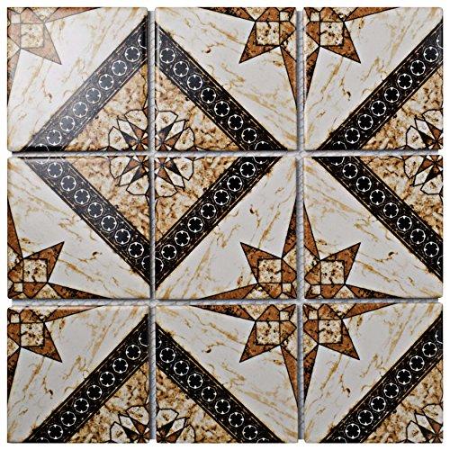 - SomerTile FDXAAUMA Cadence Elena Porcelain Mosaic Floor and Wall Tile, 11.75