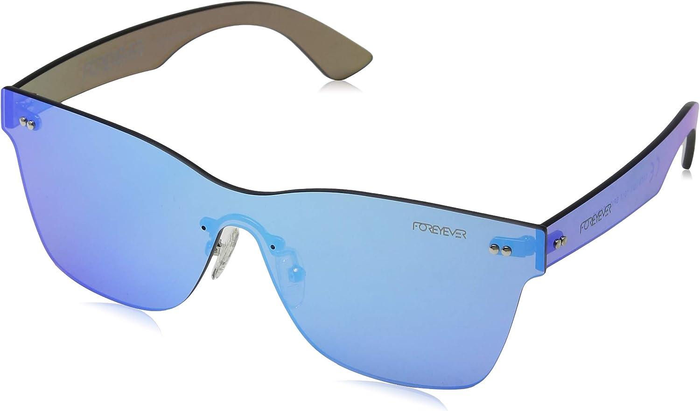 Foreyever Spica Gafas de sol, Azul (Azzurro Specchiato), 65 Unisex Adulto