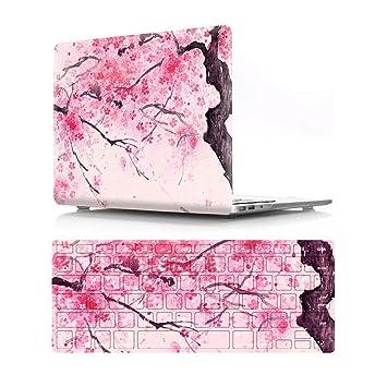 Amazon.com: Carcasa rígida de plástico con diseño de flor ...