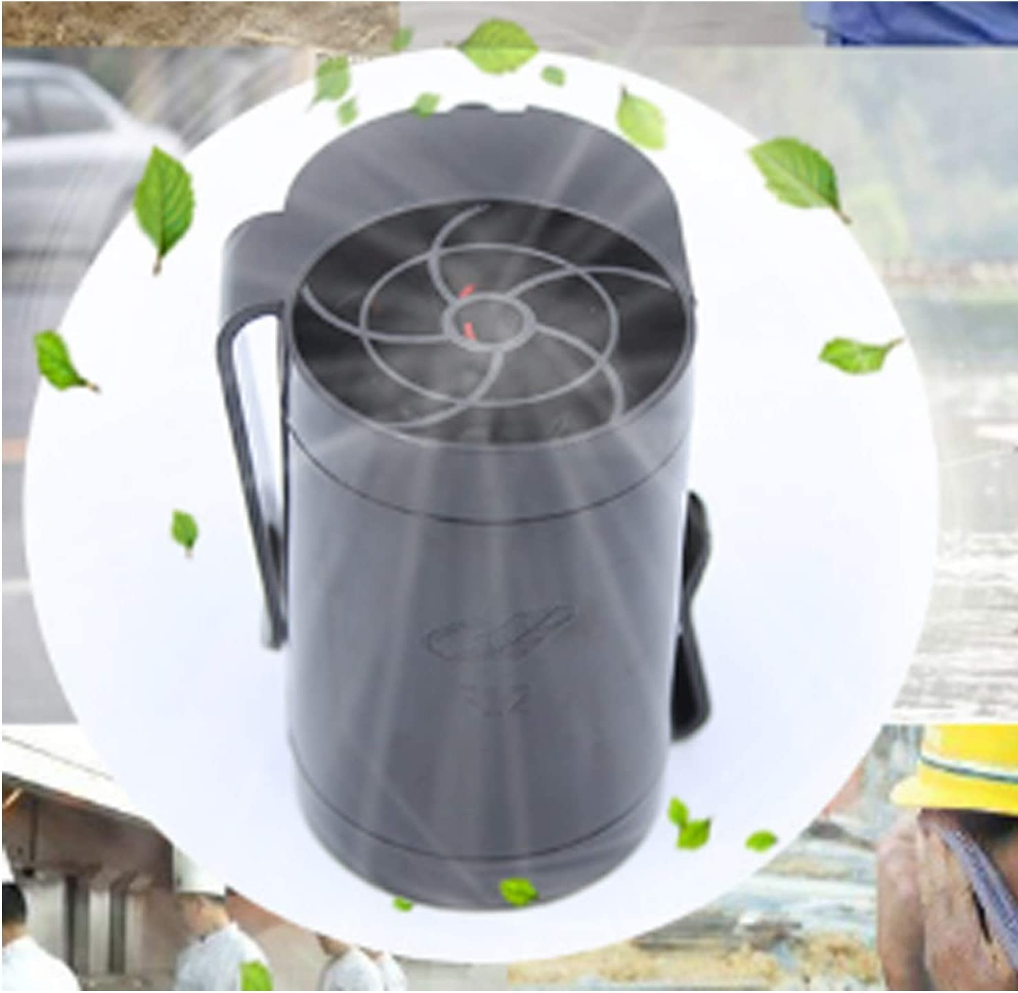 Air Cooling Fan Hanging Waist Outdoor Fan USB Charging Small Fan Portable Mini Large Wind Lithium Battery Personal Fans Color : Black