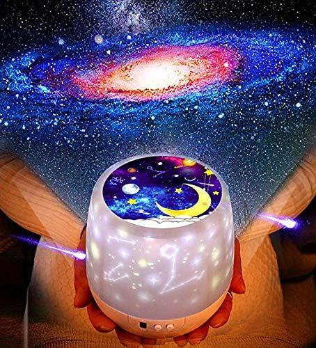 Lámpara Proyector Rotación Estrellas Luz de Noche para Niños ...