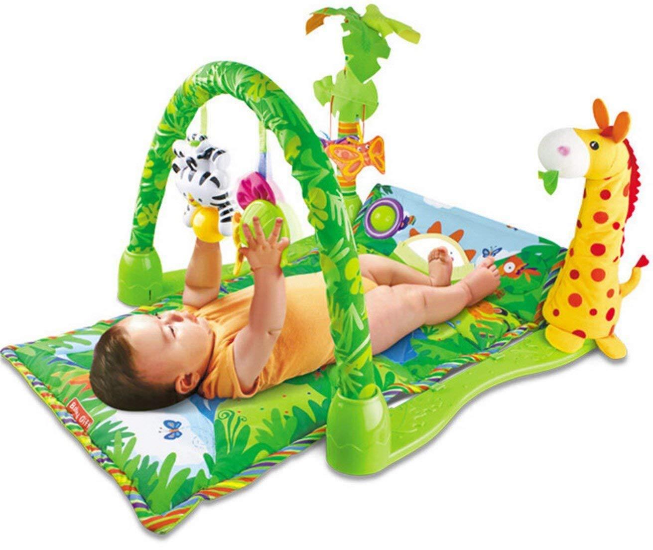Lay & spielen 3-in-1 Musical Baby Dschungel Fitness Activity Schlaflied Matte Quickdraw ZZC82334
