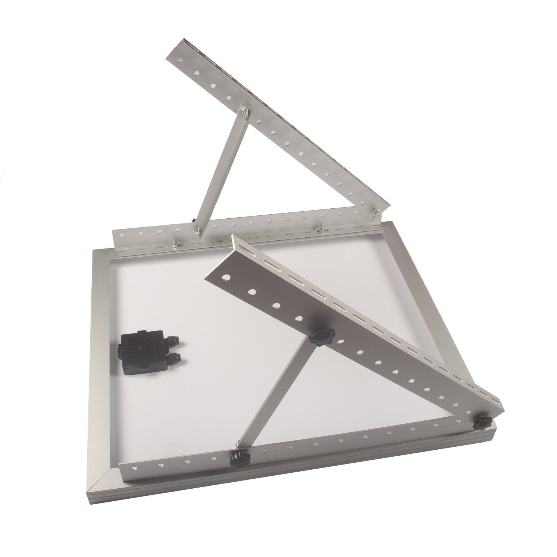 Adjustable Solar Panel Mount Mounting Rack Bracket Set Rack Folding Tilt Legs, Boat, RV, Roof Off Grid (28-inch Length) by Link Solar (Image #7)