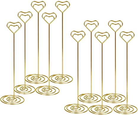 Stands Place Paper Menu Clips for Wedding 8.5 Inch Tall Star Shape Photo Picture Note Holder Restaurant and Party Table Number Card Holders 12 Pcs-Gold
