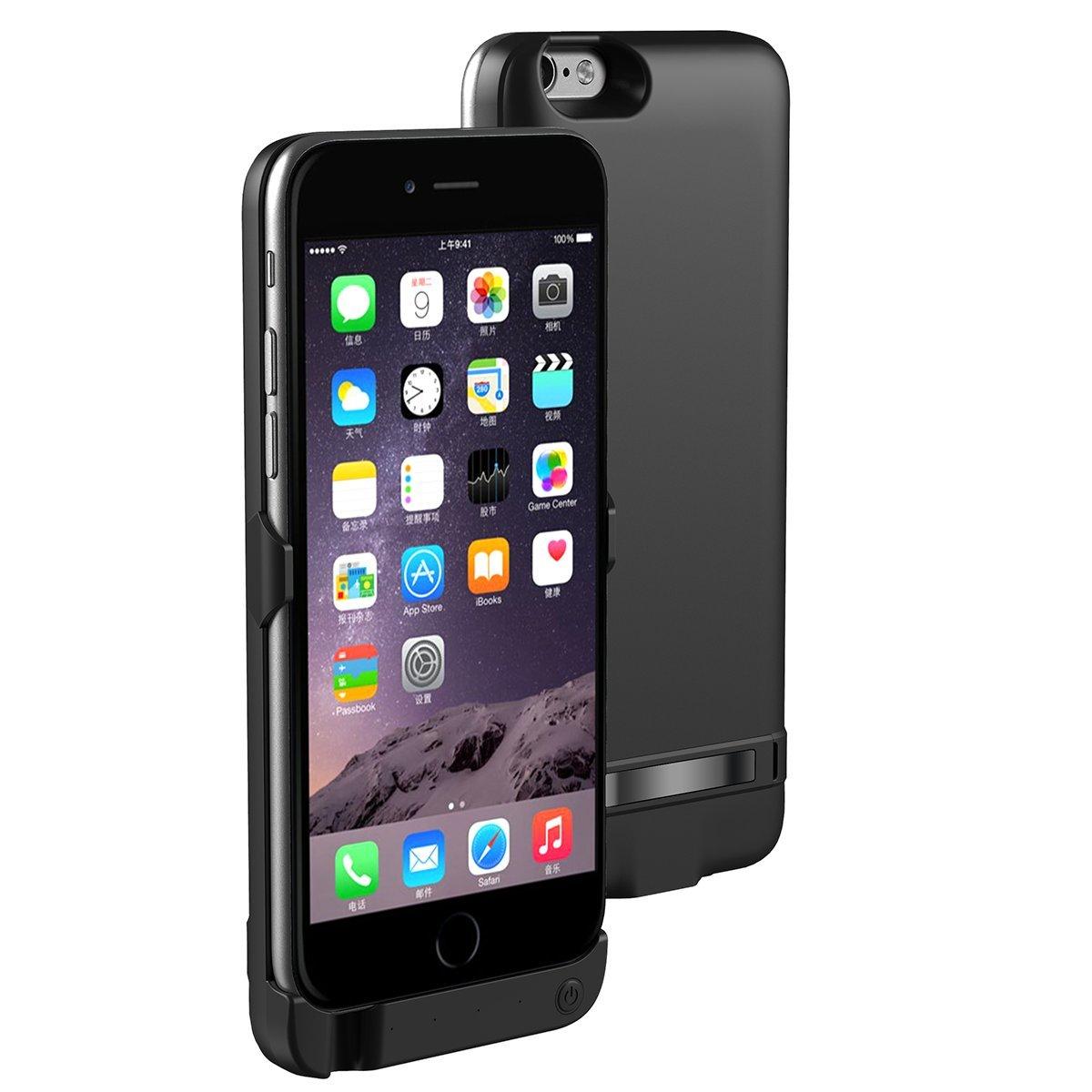 Funda Baterí a iPhone 6 / iPhone 6s, LifeePro 10000mAh Baterí a recargable externa ultra delgada Protector portá til Carga caso de prueba de choque para iPhone 6 / iPhone 6s Oro rosa