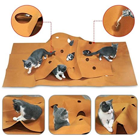 Amazon.com: TeDUnaxxme Felt Cat Activity Play Mat ...