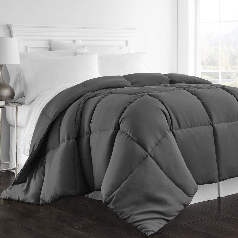Beckham Hotel Collection 1300 Series - All Season - Luxury Goose Down Alternative Comforter - Hypoallergenic - Queen/Full - Gray: Home & Kitchen