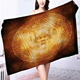Soft Luxury Towel mDem Trap Symbol Logo Ceremy Creepy Ritual ntasy Paranormal for Home, Hotel and Spa L39.4 x W19.7 INCH