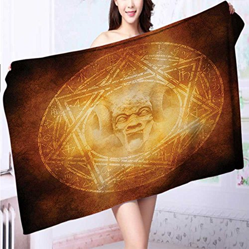 Soft Luxury Towel mDem Trap Symbol Logo Ceremy Creepy Ritual ntasy Paranormal for Home, Hotel and Spa L39.4 x W19.7 INCH by Auraise Home