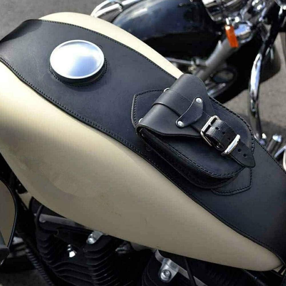 Qiilu Borsa per pannello custodia per pettorale in pelle PU per moto Coperchio per serbatoio carburante Borsa per bavaglino adatta per XL 883 1200
