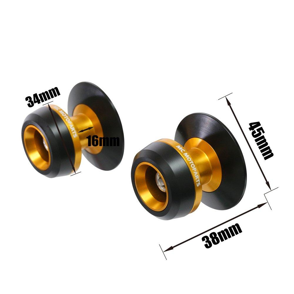 Twall Black 8MM CNC Swingarm Spools For Suzuki DL1000// V-STROM 1000 2002-2017