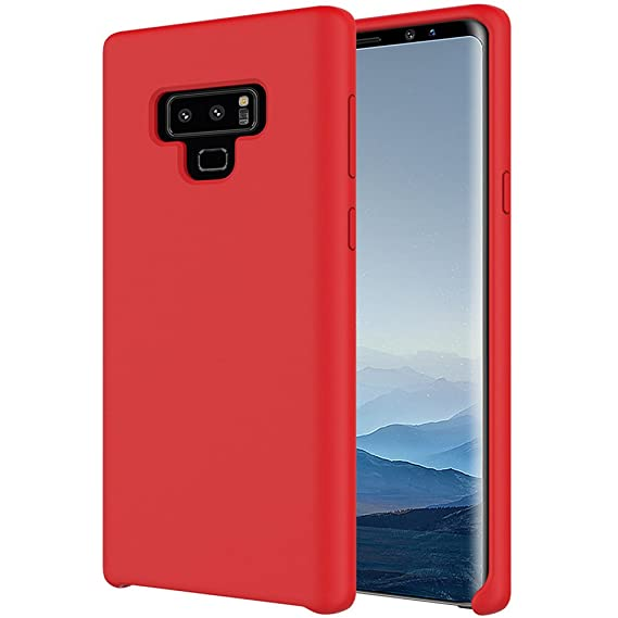 promo code 53c46 fee75 Galaxy Note 9 Case, HONTECH Ultra Thin Liquid Silicone Gel Rubber Cover  with Soft Microfiber Cloth Lining Shockproof Shell for Samsung Galaxy Note9  - ...