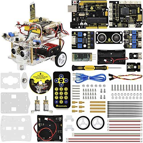 - KEYESTUDIO Desktop Mini Robot Car V2.0 for Arduino Education, Electronic Coding Robotics for Kids Age 12+, Stem Education Kids Toys for Christmas