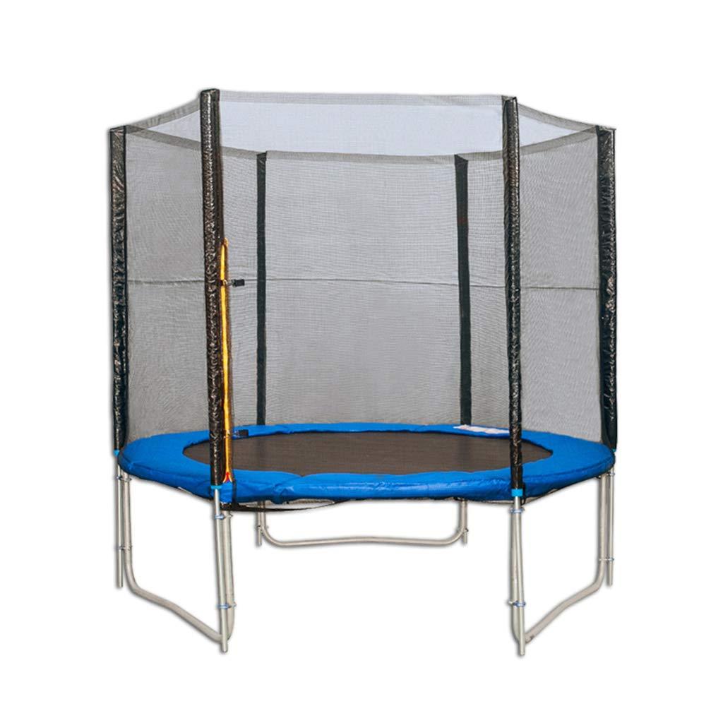 Indoortrampoline Trampolinnetz Innen- und im Freienprallbett mit schützendem Netzfederbungee-Sprungbett elastischer Eignungstrampoline (Farbe : Blau, Größe : 137 × 35 × 37cm)