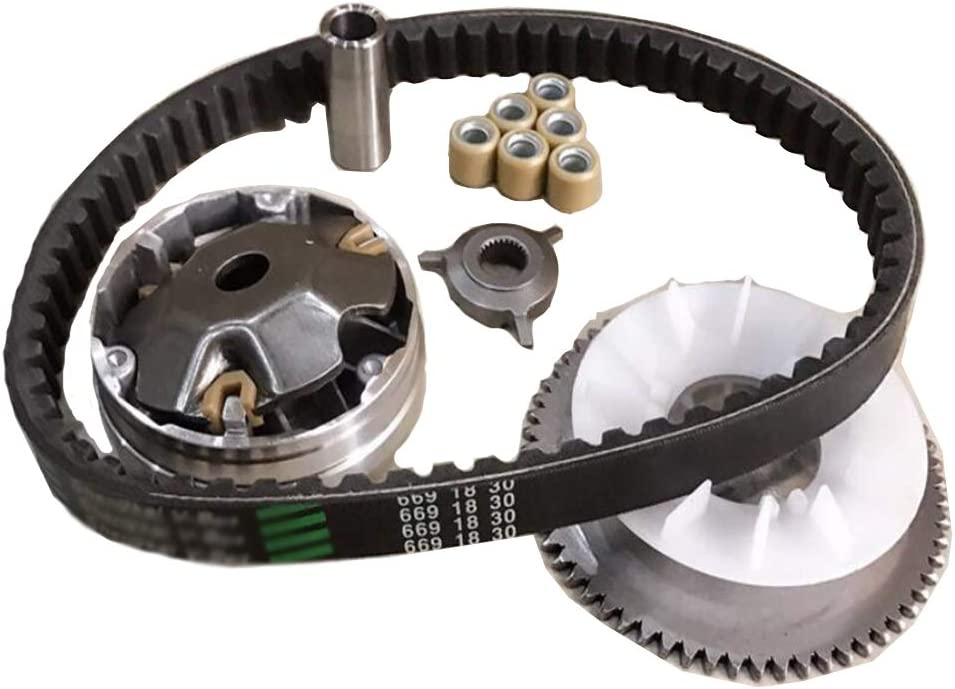 Amhousejoy Variator Belt Drive Set for GY6 4Stroke 49cc 50cc Chinese Scooter 139QMB