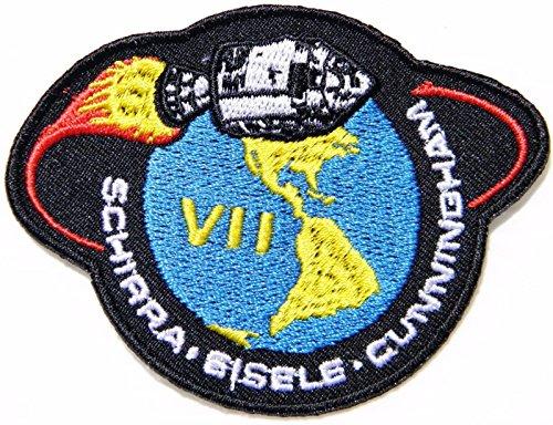 Apollo 7 Vii Nasa Schirra Eisele Logo Patch Sew Iron On Suit Space Pilot Costume