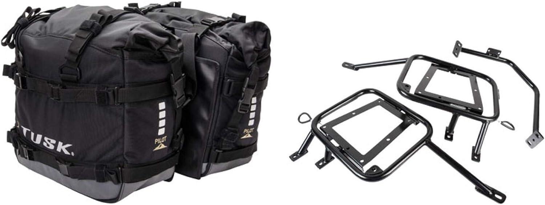 Tusk PILOT heavy duty dual sport adventure saddlebags with Tusk pannier racks 2017 Fits HONDA Africa Twin CRF1000 2016