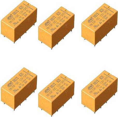 10Pcs hk19f-dc12v-shg dc 12v coil dpdt 8pin pcb realplay power relay La