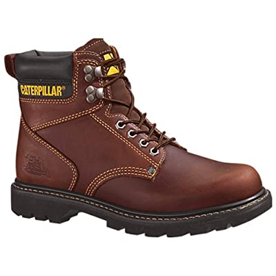 "Caterpillar Men's Second Shift 6"" Plain Soft Toe Work Boot 