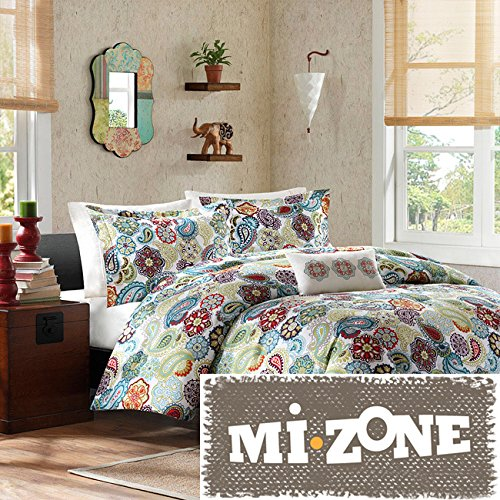 Mizone Asha 4-piece Printed Paisley Polyester Microfiber Comforter Set
