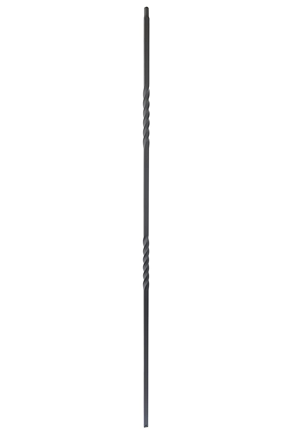 Hollow 44 Tall 1//2 Square Box of 15 Satin Black Iron Balusters Double Twist