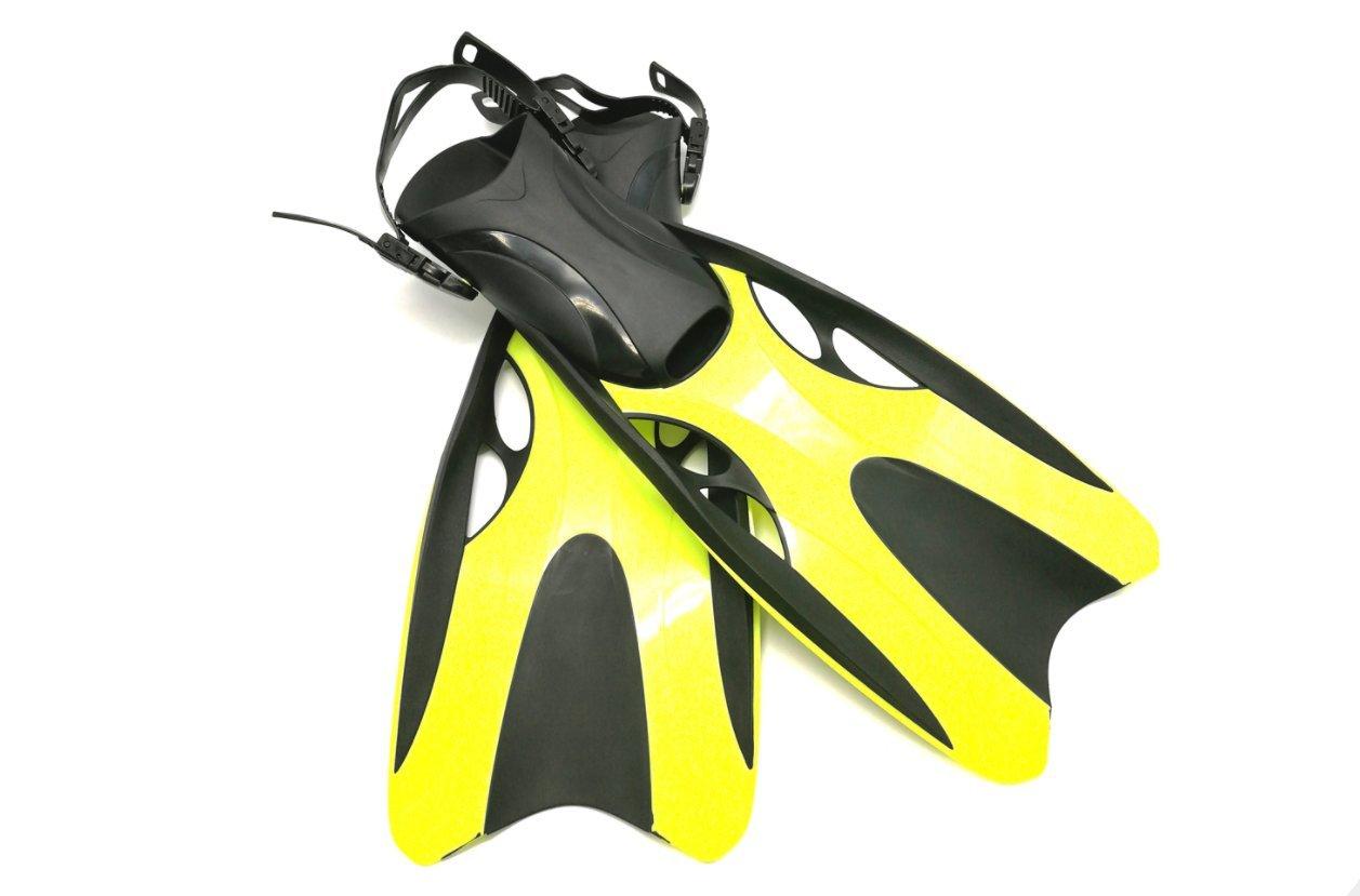 ZYQY Ouvert Talon Pédale de Natation Adultes Plongée en apnée Professionnel Pédale de Plongée Longue Pédale Plongée Chaussures Jaune Rose 37-47, Jaune, L XL