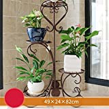 AIDELAI flower rack European Style Pastoral Creative Metal Flower Racks Indoor And Outdoor Living Room Balcony Decoration Multiple Layers Flower Pot Rack Patio Garden Pergolas (Color : #6)