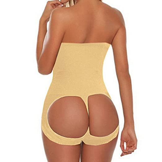 591eed07ec816 BEAdressy Womens Plus Size Tummy Control Shapewear High Waist Butt Lifter  Sculpting Panty (3XL 4XL