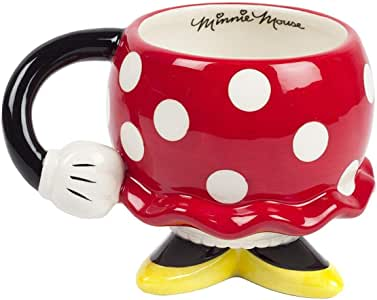 FAB Starpoint 73056 Disney Minnie Mouse Red Drinking Mug with Arm, One Size