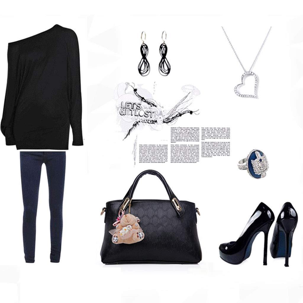 ballboU 4PCS Leather Handbag Shoulder Bags Tote Purse Satchel Messenger for Ladies Birthday Valentines Gift