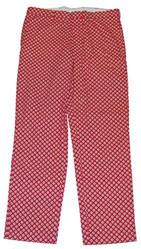 Polo Ralph Lauren Men Flat Front Khaki Chino Floral Motif Pants Green Pink 35/32 (Green Ralph Lauren Khaki)