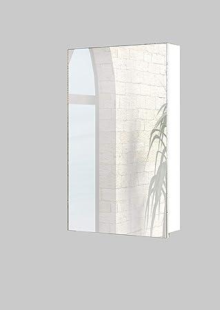 Baikal Camerino Espejo de baño, Melamina, Blanco, 48cm: Amazon.es: Hogar