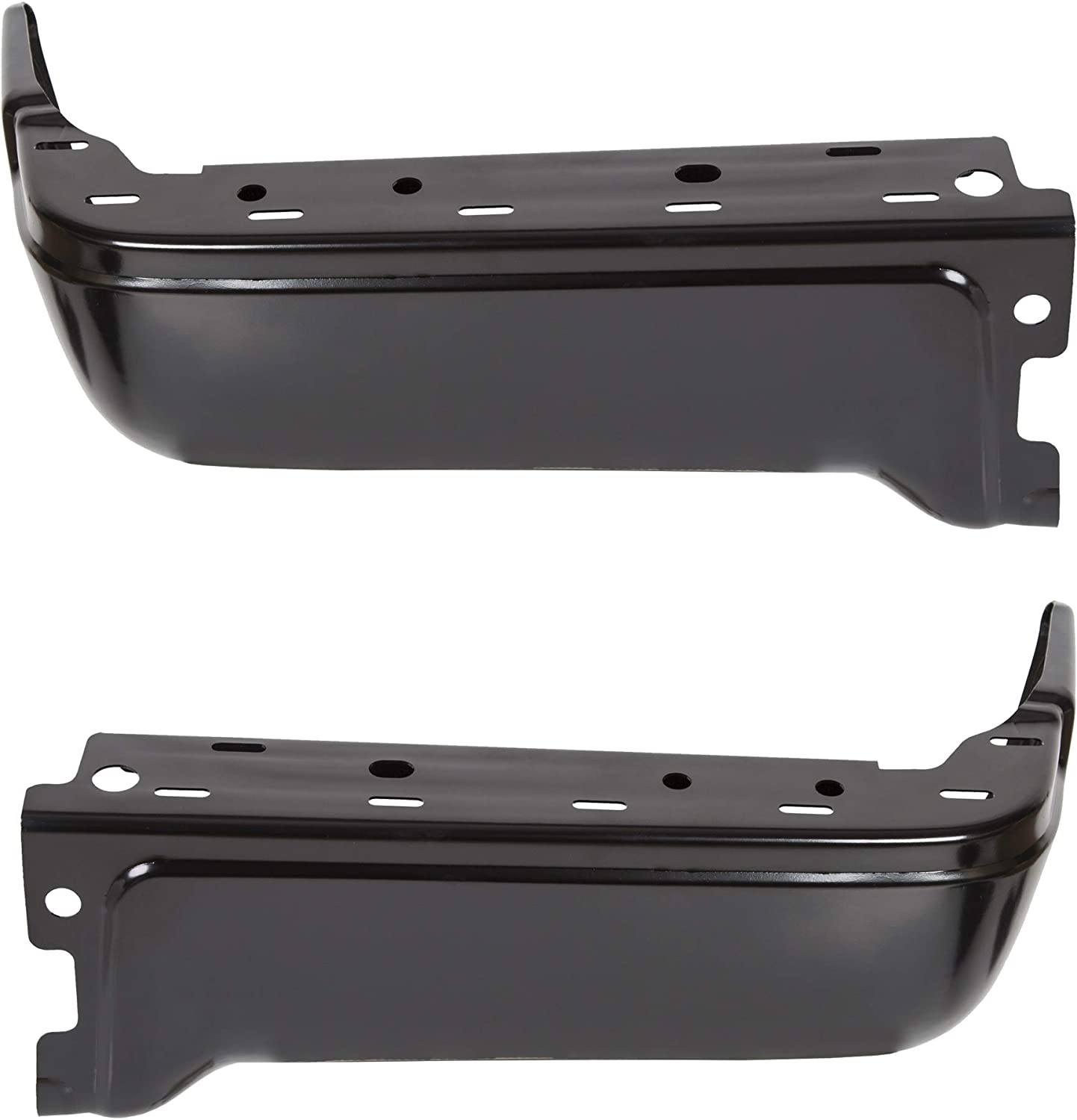 ECOTRIC New Rear Step Bumper Face Bar End Caps Black Powder Coated Pickup Driver Passenger Side for 2009-2014 Ford F150 Styleside
