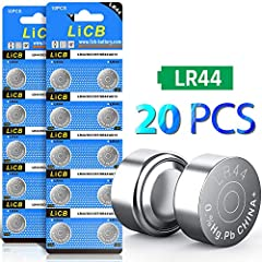 20 PCS LR44 Button Cell 1.5V Battery